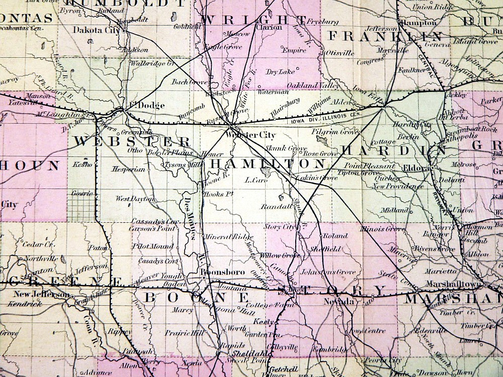 Coltons Iowa Map Ames Historical Society - Iowa map