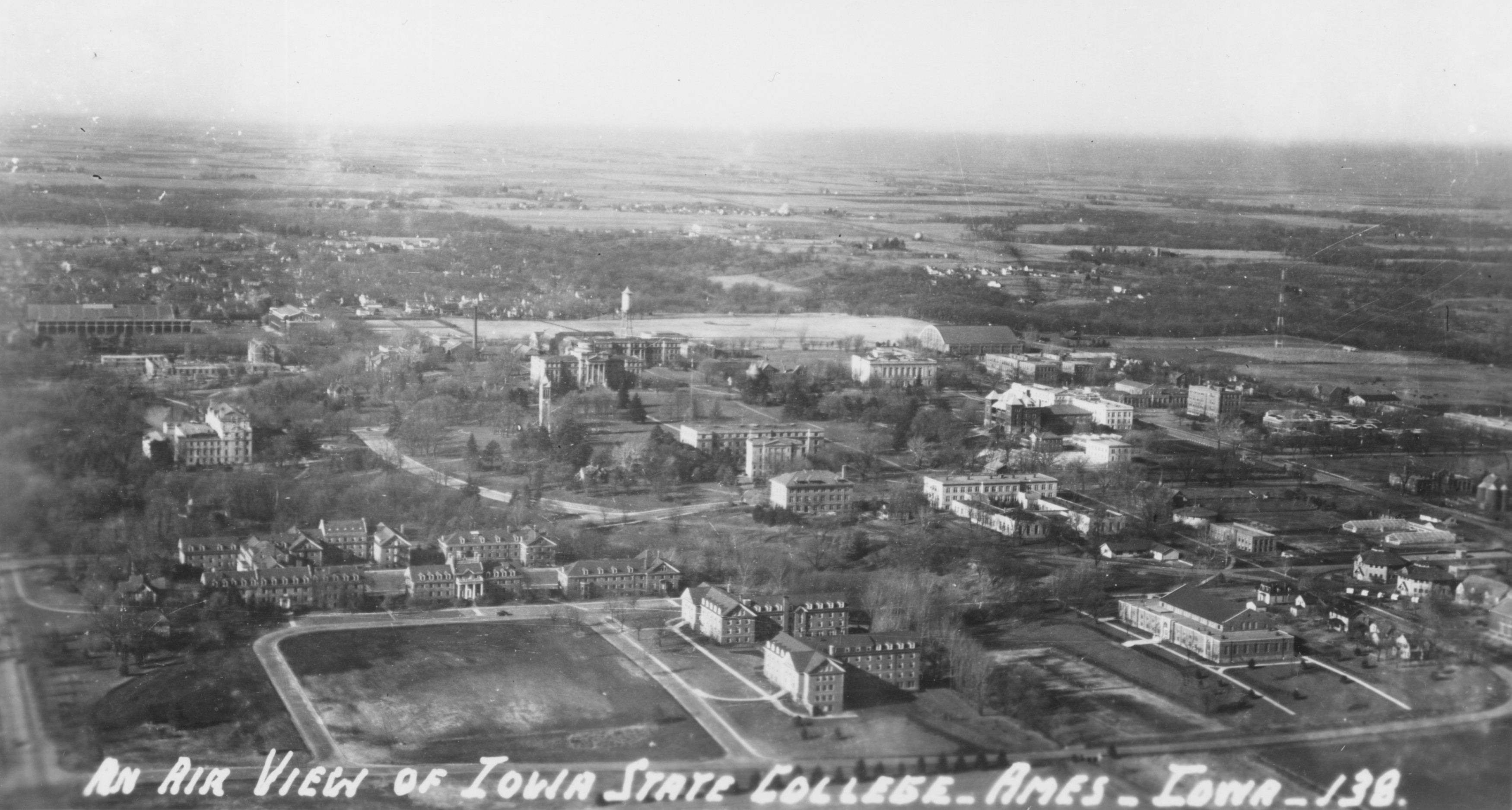 Lincoln Highway 1938 Aerial View Ames Historical Society