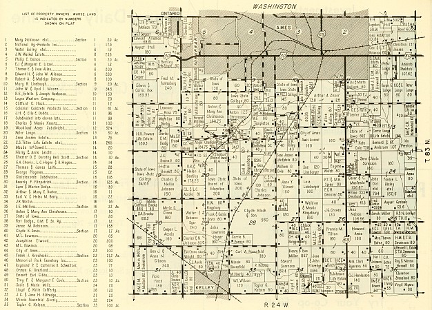 1950 map of Washington Township - click to enlarge