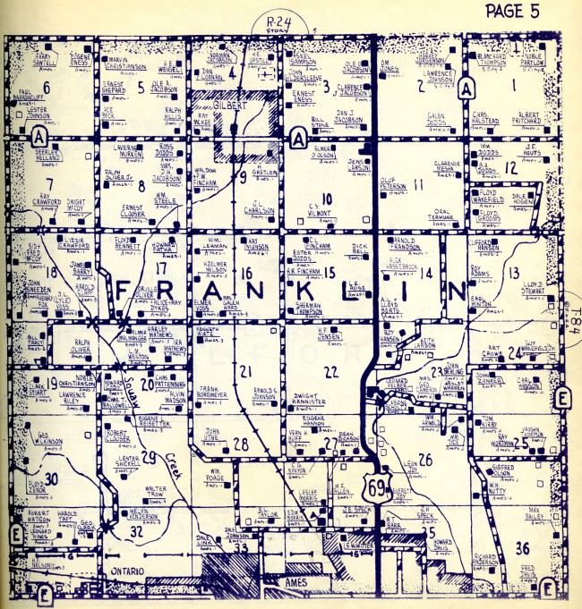 1955 map of Story County - click to enlarge