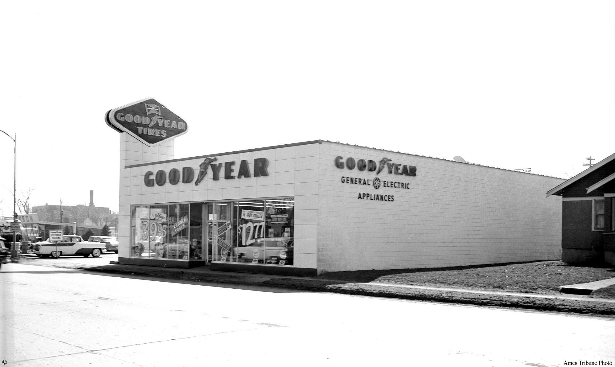 Goodyear store ames historical society for Lincoln motor inn van wyck