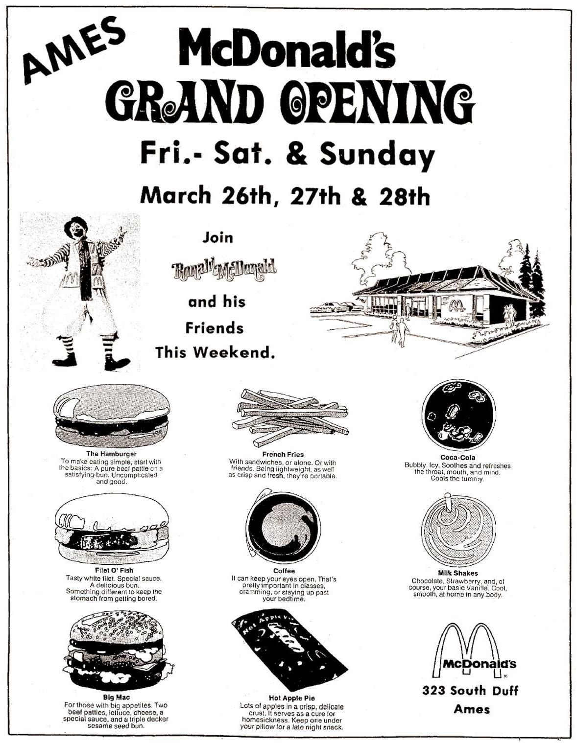 McDonald\'s   Ames Historical Society