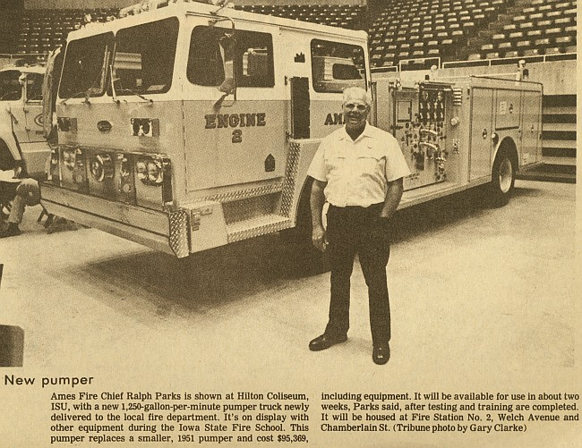 Ames Fire Department | Ames Historical Society