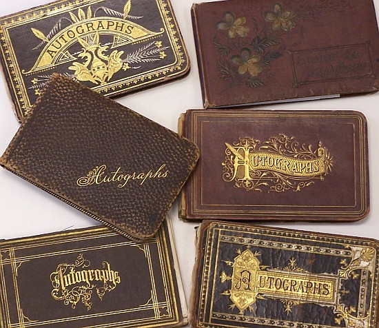 autograph book verses ames historical society