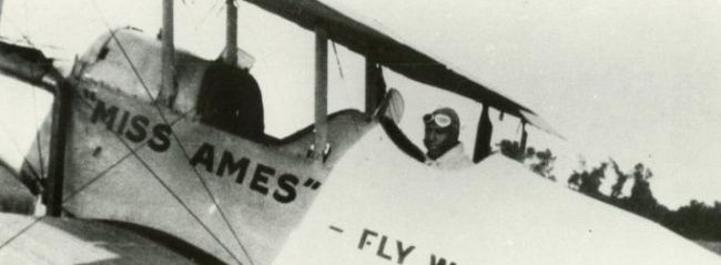 Herman Banning's plane<br />          -Miss Ames-