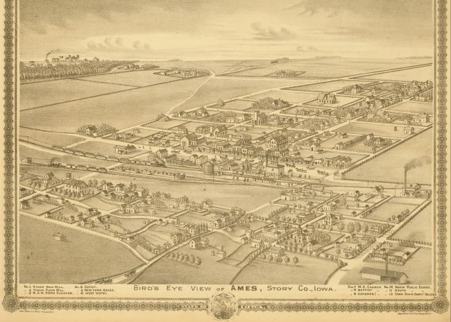 Ames Aerial Views Ames Historical Society